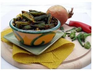 Goan style okra fry
